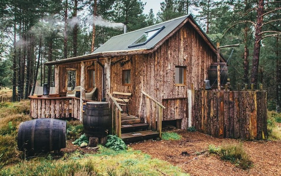 quirky eco-cabin